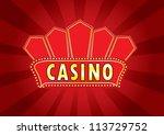 casino billboard sign vector | Shutterstock .eps vector #113729752