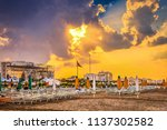sunset on colorful closed... | Shutterstock . vector #1137302582