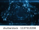binary code flying in an... | Shutterstock . vector #1137313208