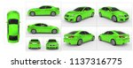 car isolated on white   green... | Shutterstock . vector #1137316775