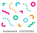pattern hiperst abstract. form... | Shutterstock .eps vector #1137322262