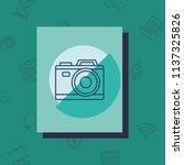 photographic camera icon   Shutterstock .eps vector #1137325826