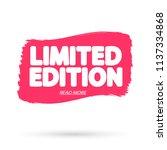 limited edition  banner design... | Shutterstock .eps vector #1137334868