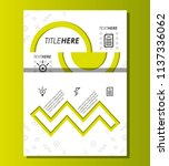 template infographic with... | Shutterstock .eps vector #1137336062