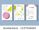 template set infographic with... | Shutterstock .eps vector #1137336065