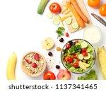 top view of mixed vegetables...   Shutterstock . vector #1137341465