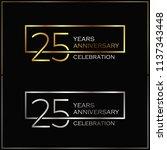 25th years anniversary... | Shutterstock .eps vector #1137343448