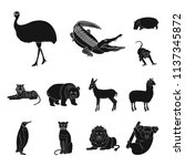 different animals black icons...   Shutterstock .eps vector #1137345872