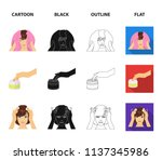 cosmetic  salon  hygiene  and...   Shutterstock .eps vector #1137345986