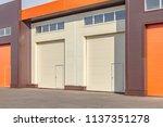 orange and white roller... | Shutterstock . vector #1137351278