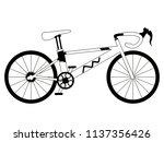 racing bicycle silhouette | Shutterstock .eps vector #1137356426