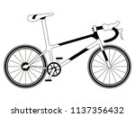 racing bicycle silhouette | Shutterstock .eps vector #1137356432
