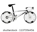 racing bicycle silhouette | Shutterstock .eps vector #1137356456