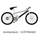 racing bicycle silhouette | Shutterstock .eps vector #1137356462