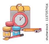 back to school design | Shutterstock .eps vector #1137357416