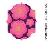 floral pattern design | Shutterstock .eps vector #1137363422