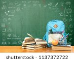 back to school concept with... | Shutterstock . vector #1137372722