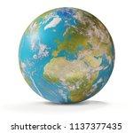 the planet earth world globe.... | Shutterstock . vector #1137377435