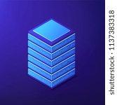 isometric big data tools to... | Shutterstock .eps vector #1137383318