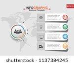 vector modern infographic... | Shutterstock .eps vector #1137384245