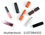 flat lay of decorative various...   Shutterstock . vector #1137384332