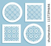 templates for laser cutting ... | Shutterstock .eps vector #1137394646