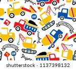 vector seamless pattern with... | Shutterstock .eps vector #1137398132