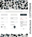 light gray vector ui kit in...