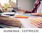 designer graphic creative ... | Shutterstock . vector #1137401132