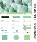 light green vector material... | Shutterstock .eps vector #1137405158
