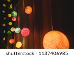 colorful cotton ball lights... | Shutterstock . vector #1137406985