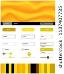 light yellow vector ui ux kit...