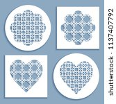 templates for laser cutting ... | Shutterstock .eps vector #1137407792
