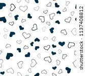 dark blue vector seamless cover ... | Shutterstock .eps vector #1137408812