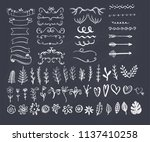 big collection of hand sketched ... | Shutterstock .eps vector #1137410258