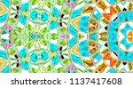 colorful abstract pattern for... | Shutterstock . vector #1137417608