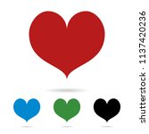 set of colored hearts with... | Shutterstock .eps vector #1137420236