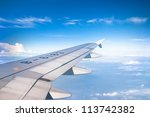 View Of Jet Plane Wing With...