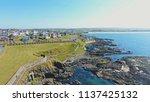 portstewart town atlantic ocean ... | Shutterstock . vector #1137425132