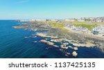 portstewart town atlantic ocean ... | Shutterstock . vector #1137425135