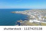 portstewart town atlantic ocean ... | Shutterstock . vector #1137425138