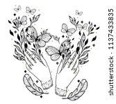 sketch graphic illustration... | Shutterstock .eps vector #1137433835