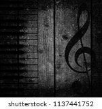 wood musical background | Shutterstock . vector #1137441752