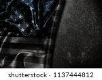 usa flag vintage background | Shutterstock . vector #1137444812