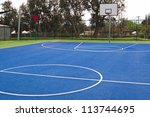 Center Of Basketball In Bright...