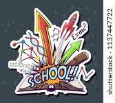 vector school and education... | Shutterstock .eps vector #1137447722