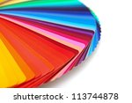 rainbow color palette isolated... | Shutterstock . vector #113744878