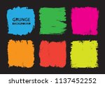 vector color square grunge... | Shutterstock .eps vector #1137452252
