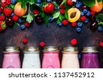 healthy and useful colorful... | Shutterstock . vector #1137452912