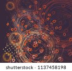 contemporary art. hand made art.... | Shutterstock . vector #1137458198